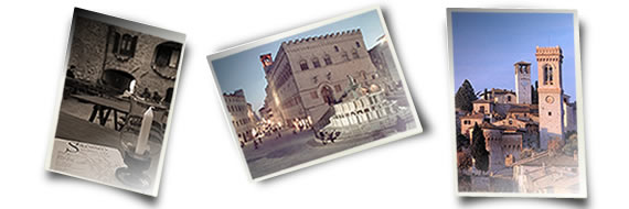 Cities in Umbria: Solomeo, Perugia, Corciano
